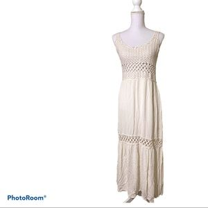 Lovestitch - knitted crochet maxi dress